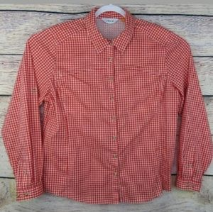 Orvis Red Check Vented Outdoor Button Shirt Sz XL